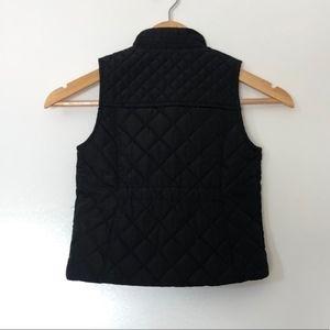 Copper Key Jackets & Coats - Copper Key Quilted Vest Girls 10/12 Black + Gold